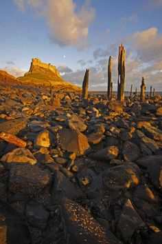 Lindisfarne Castle, Northumberland print on canvas - photography by Andrew Whitaker Northern England, England Uk, City Photography, Landscape Photography, Northumberland Coast, Wanderlust, Great North, Ireland Landscape, North Yorkshire