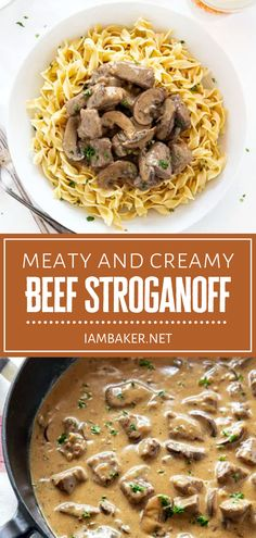 This easy recipe is great to have on hand! This hearty Beef Stroganoff can fill everyone up after a long day. Full of creamy and meaty flavor, this comfort food is perfect for the cold and blustery months ahead. Serve it over egg noodles, rice, or even mashed potatoes!