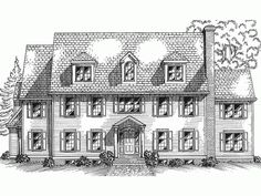Federal Style House Plans adam - federal house plan with 4594 square feet and 5 bedrooms