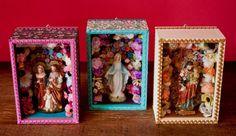 DECORAÇÃO 2013 Relicário sem vidro P baby D1004 Relicário sem vidro P baby D1004 Relicário sem vidro P baby D1004 ... Mexican Crafts, Mexican Folk Art, Kitsch, Diy Shadow Box, Catholic Crafts, Day Of The Dead Art, Do It Yourself Crafts, Sacred Art, Recycled Crafts