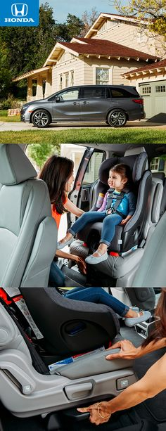 These seats slide! The available Magic Slide 2nd-row seats™ allow you to slide the middle seat up and keep you in touch with your tiny navigator.