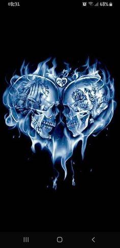 Skull lovers wallpaper by - 96 - Free on ZEDGE™ Tattoos For Lovers, Tattoos For Women, Feminine Skull Tattoos, Love My Man, Skull Artwork, Smoke Art, Dope Tattoos, Love Wallpaper, I Tattoo