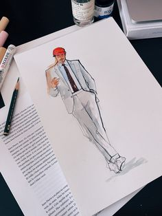 My sketch of Richard Biedul
