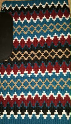 Show Diva Designs gorgeous new oversize 34x40 wool saddle pad in burgundy, teal, black, white and tan. www.showdivadesigns.com