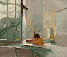 Elmer Bischoff | Orange Sweater / oil on canvas / 1955