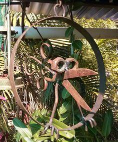 Bird made from an old scissor