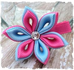 Image detail for -Kanzashi flower and butterfly boutique hair clip PDF tutorial