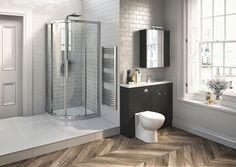 Medley Hacienda Black will make a statement in any size of bathroom Toilet, Bathtub, Bathroom, Furniture, Stylish, Black, Ideas, Standing Bath, Washroom
