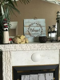 A personal favorite from my Etsy shop https://www.etsy.com/listing/489018752/blessed-reclaimed-wood-sign-mantel-decor