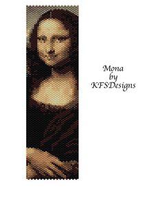 Mona Lisa  Peyote Stitch Beading Pattern Buy 2 by KFSDesigns, $6.50