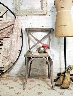 Painted+Cottage+Chic+Shabby+Farmhouse+Chair+by+paintedcottages,+$225.00