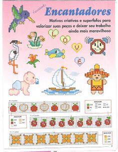 Revista: Encantadores - 172 Gráficos de Ponto Cruz