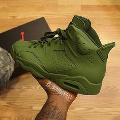 Olive 6's    by @_humblebully _________________________________ #Nike #nikeair…