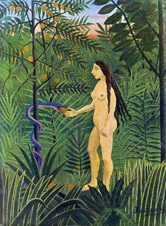 Eve and the Serpent, 1907 - Henri Rousseau (1844-1910) http://consentidoscomunes.blogspot.com.es/