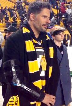 Joe Manganiello--- 1/2015 --- at Steeler's game, they lost :-(