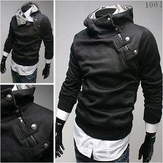 Novelty Plain Solid Color Long Sleeve Hoodies Design Sweatshirts for Men #MS003 $23.99