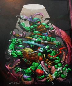 Sewer Mutants Teenage Mutant Ninja Turtles by Bisley Comic Art