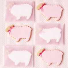 Mary had a little lamb whose icing was as white as snow (or pink, if you prefer) thanks to a sprinkling of sanding sugar.