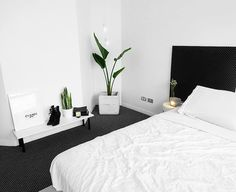 """Interior Designs Archives - Stylendesigns """"Does anyone else get anxious if they don't change their room/place around often or just me? I gave my room a mini makeover with a slightly different…"""" Minimal Bedroom, Modern Bedroom, White Bedrooms, Contemporary Bedroom, Minimalist Room, Minimalist Interior, Home Bedroom, Bedroom Decor, Master Bedroom"""