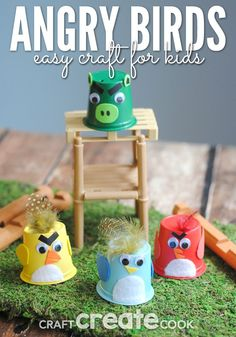 This Angry Birds craft for kids is cute and easy!