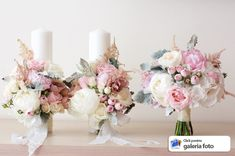 Boquette Wedding, Mauve Wedding, Perfect Wedding, Wedding Colors, Church Flower Arrangements, Wedding Arrangements, Floral Arrangements, Bridal Flowers, Flower Bouquet Wedding