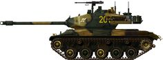 M41 Walker Bulldog Light Tank (1951)  U.S.A. - 5500 built