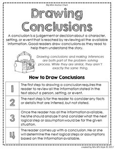 drawing conclusions anchor chart * drawing conclusions anchor chart ` drawing conclusions anchor chart ` drawing conclusions anchor chart first ` drawing conclusions anchor chart Reading Lessons, Reading Skills, Writing Skills, Reading Strategies Posters, Reading Comprehension Strategies, 5th Grade Reading, Guided Reading, Reading Anchor Charts, Reading Intervention