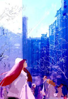 Frosty morning in the city. by PascalCampion.deviantart.com on @deviantART