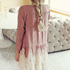 Peacemaker Lace Duster, Bohemian Jackets & Tops from Spool 72. | Spool No.72