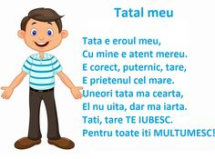 Poezie - Tatal meu Act Practice, Romanian Language, Kids Poems, Math Journals, Writing Advice, Activities To Do, Preschool Activities, Kids And Parenting, Kindergarten