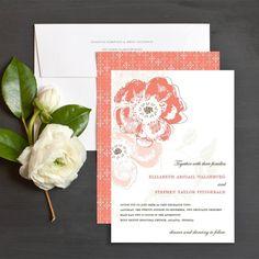 Floral Reflection Wedding Invite