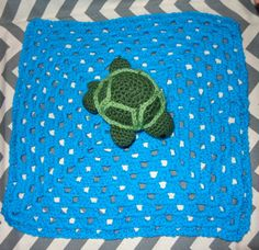 Turtle Lovey Blanket Rattle by GypsySoulsCrafts on Etsy