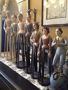 "Santos - Cage Doll - Mannequin - Form - Blanco 31"" Wood"