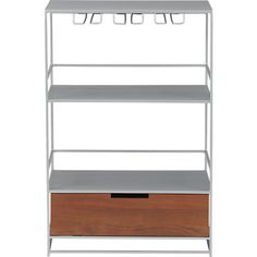 printer would sit on top of drawer base & you could have your bar also! maitre wine bar  | CB2
