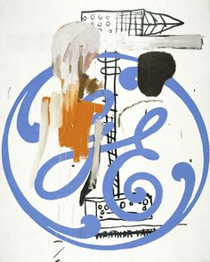 "JEAN-MICHEL BASQUIAT & ANDY WARHOL ""General Electric"", 1985 Acrylic on…"