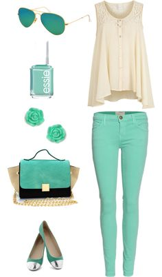 """""""mint & cream"""" by catia-rodrigues on Polyvore"""