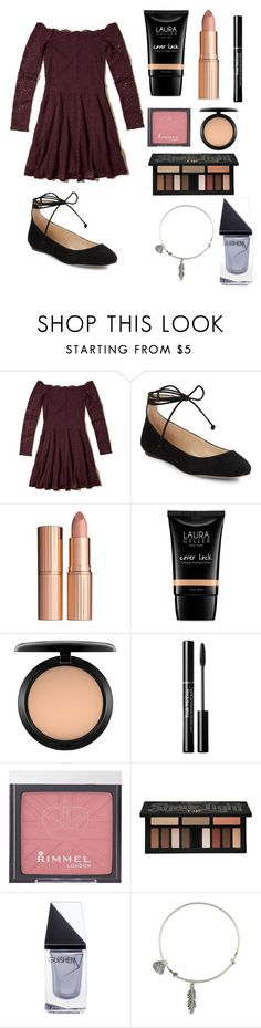 """""""Untitled #165"""" by sparkle11-1 ❤ liked on Polyvore featuring Hollister Co., Karl Lagerfeld, Charlotte Tilbury, Laura Geller, MAC Cosmetics, Rimmel, Kat Von D, GUiSHEM and Alex and Ani"""