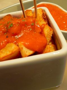 Patatas Bravas (spicy potatoes)