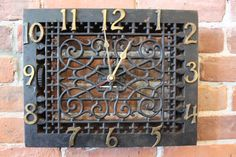 Large Victorian Cast Iron Floor Register Wall Clock by canihaveit, $165.00