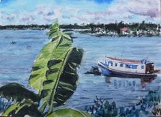 Amazon River,ACEO collectible Card Original mini artwork Watercolor Painting   #Realism