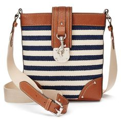 21867fe1e5 Chaps Triple-Entry Fabric Crossbody Bag