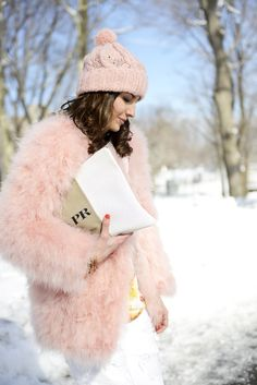 As winter jackets go, this pink fluff is awfully cute.