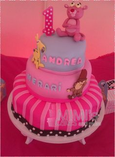 Baby Pink Panther Cake.