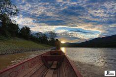 Tarapoto, Peru — by Joseluis Franco Castro. Navegando el río huallaga. Chazuta