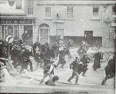 1969: Northern Ireland is rocked by intense political and sectarian rioting, August 12-17. The British Army is deployed to restore order and peace lines are built to separate the two Catholic and Protestant sides. Loyalists and police storm the nationalist Bogside district in Derry.