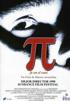 """""""Pi"""" > 1998 > Directed by: Darren Aronofsky > Avant-garde / Experimental Thriller / Psychological Thriller / Surrealist Film Internet Movies, Movies Online, Great Films, Good Movies, Math Movies, Martin Scorsese, Darren Aronofsky Movies, Stanley Kubrick, Pi Film"""