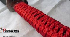Paracord sword handle wrap tutorial.