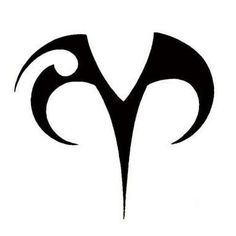 Aries symbol tattoo idea. Maybe in a different color.