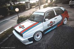 Volkswagen Golf Mk1, Vw Mk1, Vw Cabriolet, Golf 2, Martini Racing, Bmw E30, Car Wrap, Subaru, Cars And Motorcycles
