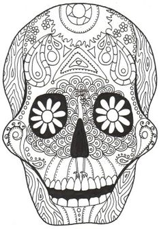 Day of the Dead: Love the peacock around the nose and eyes! :)